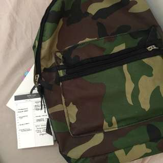 Camouflage Bagpack Canvas