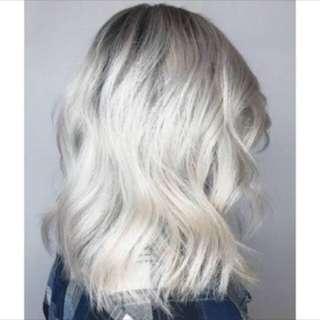 Very Light Ash Blonde Hair Color Dye Set
