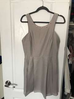 BCBG size 10 dress with rose gold details and pockets