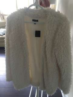 White/cream fur jacket tags attached!