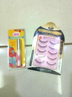 Paket Blink Charm Eyelash Glue + False Eyelashes