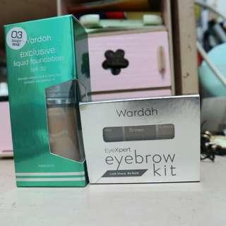 Wardah foundation & eyebrow