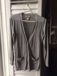 Banana republic grey cardigan