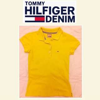 🚺《TOMMY HILFIGER DENIM》二手 黃色 短袖polo衫