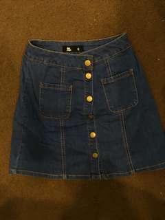 jay-jays blue denim skirt
