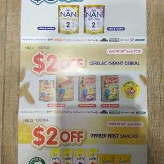 Nestle Nan Cerelac vouchers