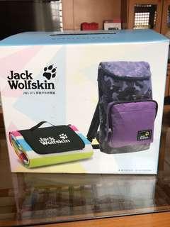 飛狼戶外休閒野餐墊+紫迷彩後背包《全新》