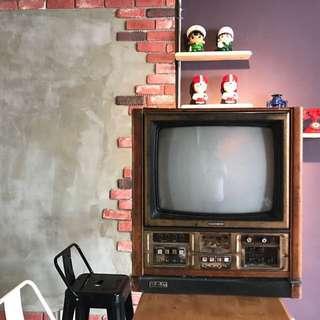 「早期 聲寶黑白電視可過電」 早期 古董 復古 懷舊 稀少 有緣 大同寶寶 黑松 沙士 鐵件 40年 50年
