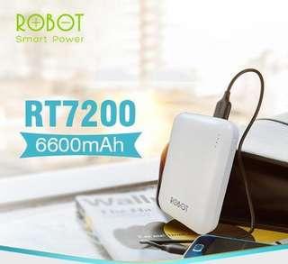 Powerbank robot RT7200 dual UDB 6600 Mah