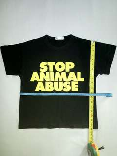 "SPCA ""Stop Animal Abuse"" Tees"