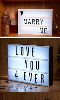 創意自組字母燈箱