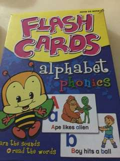 ABC, Numbers and Shape Flash Cards