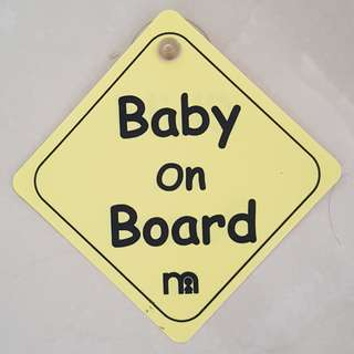 Baby / Child On Board (Mothercare Brand)