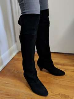 Knee length suede boots size 37