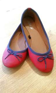 Rubi red flats shoes