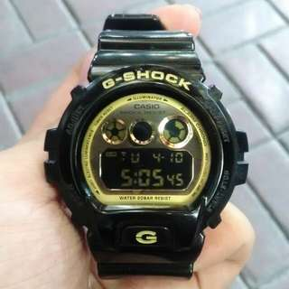 Casio G Shock Black and Gold