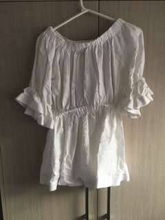 Size small off the shoulder white mini dress