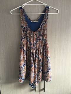 Size 8/small bohemian printed jumpsuit