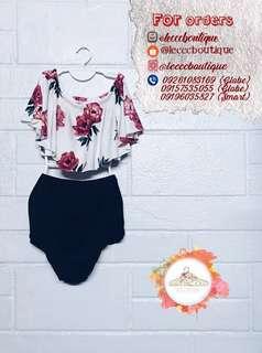 Off shoulder bikini (bathing suit/swimwear)