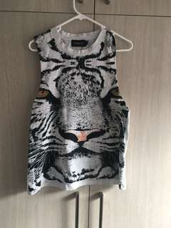 Mink pink size small animal print singlet
