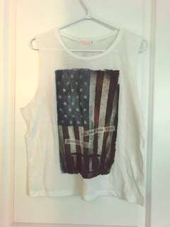 Anerican Flag Tank Top