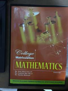 Mathematic for matriculation