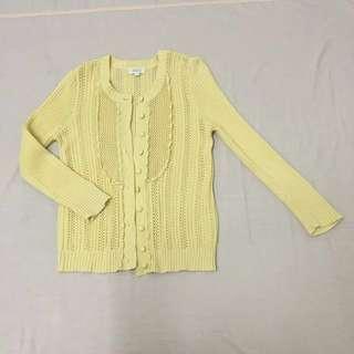Seed Yellow Crochet Cardigan