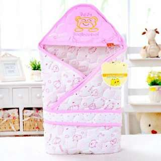 Baby Receiving Blanket with Belt - PINK