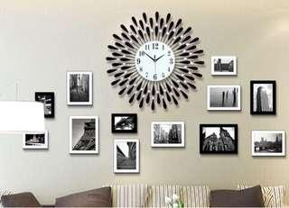 Large Crystal Wall Clock-Good Quality