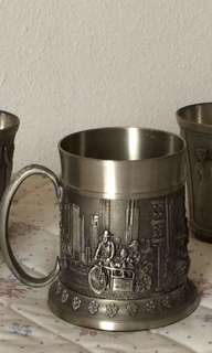 Singapore Airlines pewter mug