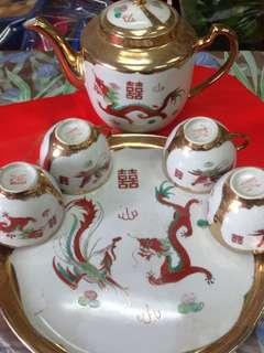 舊景德鎮茶具六件頭一套