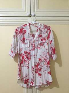 Floral Chiffon Office Blouse