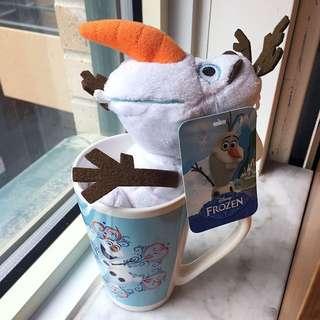 Olaf Mug with Plush Keychain