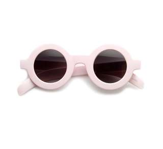Pink round large lens sunglasses
