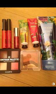Body shop cosmetics set