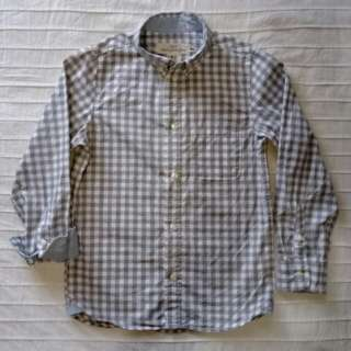 H&M Long-sleeved Gingham Shirt