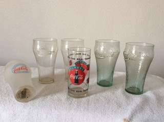 Coca Cola collectible glasses