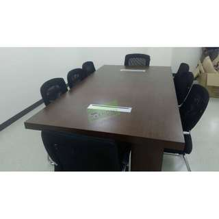10 SEATER CONFERENCE TABLE WITH WIRE MANAGEMENT--KHOMI