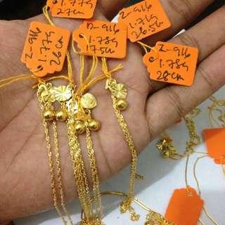 Gold 916 Anklet