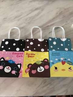 Paper bag- goody bag, goodies bag carrier