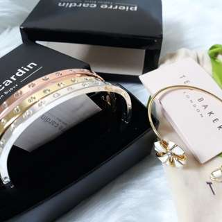 Pierre Cardin Triple Bangle Set and Ted Baker cuff bangle