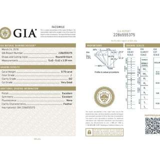 GIA 認證 0.70CT  J color SI2 鑽石