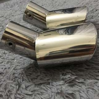 Stainless steel exhaust tip for Mazda 3