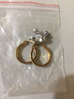 Pure stainless earrings