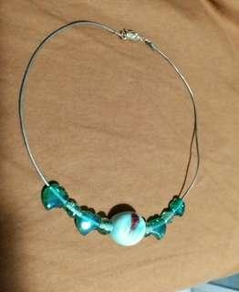 自創瓷珠玻璃珠項鍊