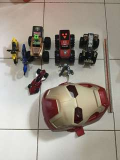Take all Glow in the dark Iron Man Mask plus other toys