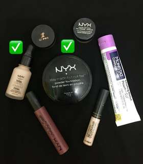 Take all foundation nyx&bedak nyx 100% original