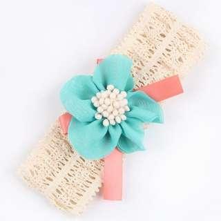 Instock - crochet headband, baby infant toddler girl children ancdefgh sweet kid happy so pretty