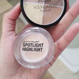 City color highlight & menow pro foundation