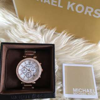 MICHAEL KORS Parker Chronograph Rose Gold-tone Ladies Watch